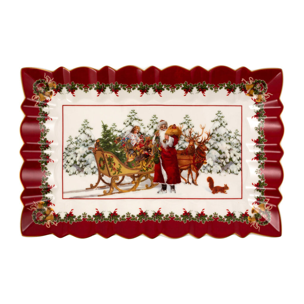 빌레로이 앤 보흐 '토이즈 판타지' 케이크 접시 Villeroy & Boch Toys Fantasy Cake plate rect., Santa with sleigh