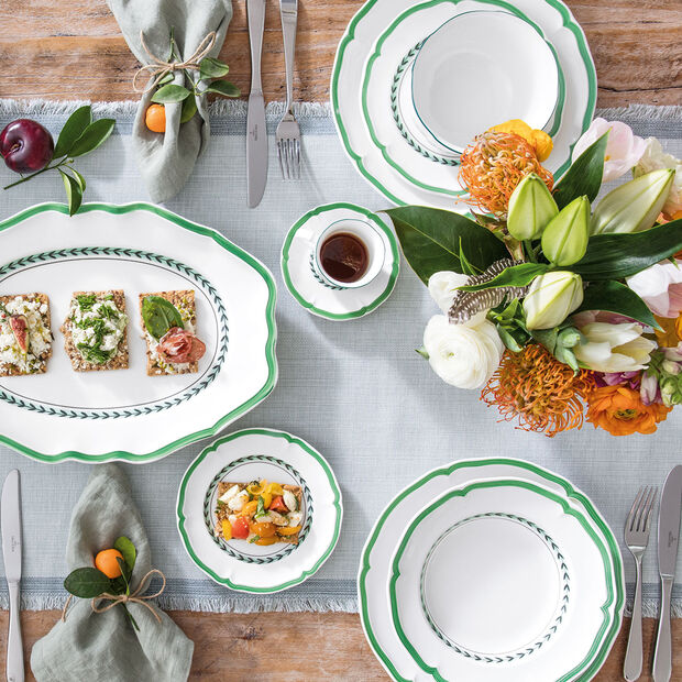 French Garden Green Line Appetizer/Dessert Plate, , large