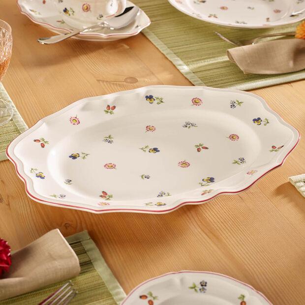 Petite Fleur Oval Platter, Small, , large