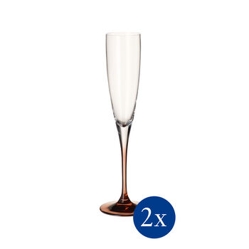 Manufacture Glass Flute Champagne, Set of 2