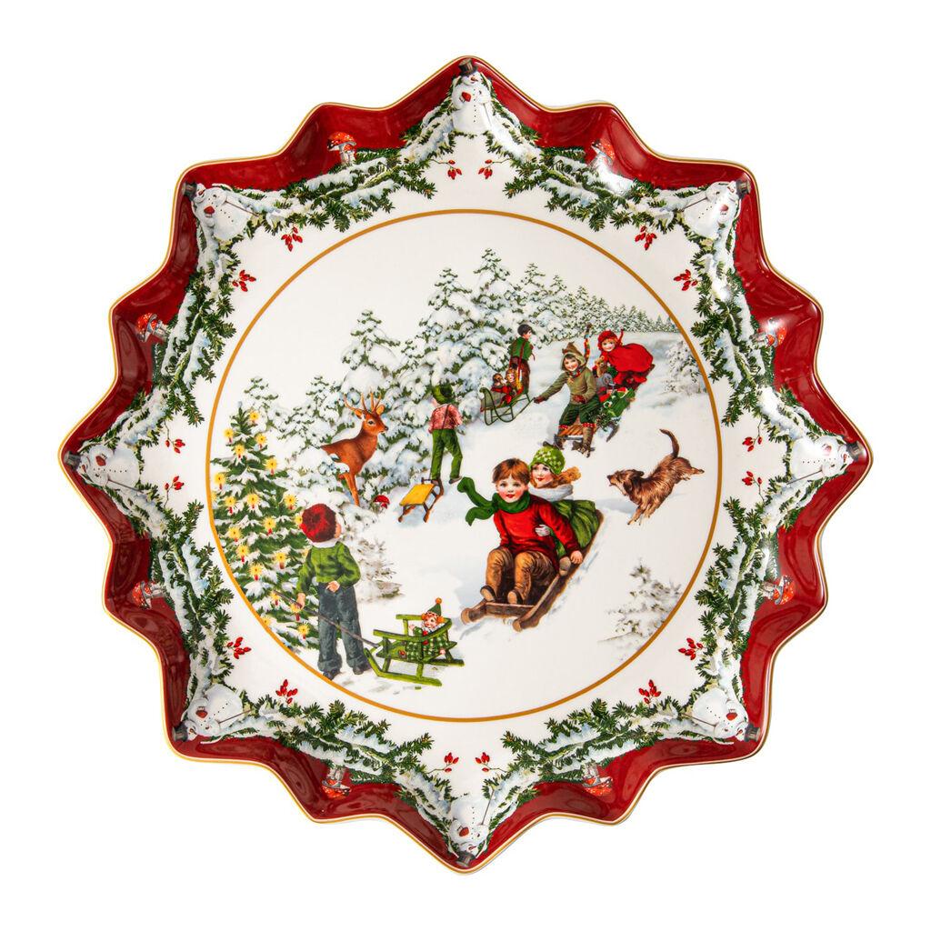 빌레로이 앤 보흐 '토이즈 판타지' 접시 Villeroy & Boch Toys Fantasy Pastry plate deep, sleigh ride