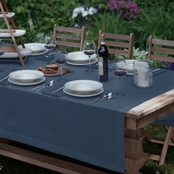 """La Classica Oblong Tablecloth: Indigo, 70x126"""""""