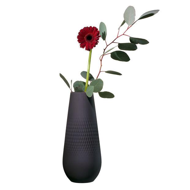 Manufacture Collier Noir Carre Vase, Tall, , large