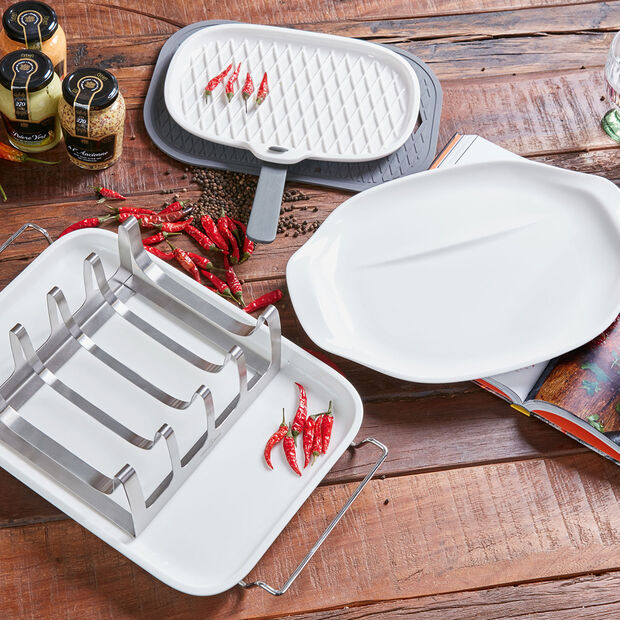 BBQ Passion Meat Platter with Handle, , large