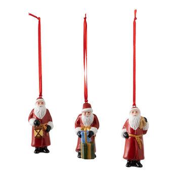 Nostalgic Ornaments Santa Claus Ornaments, Set of 3