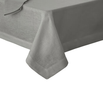 """La Classica Oblong Tablecloth: Grey, 70x126"""""""