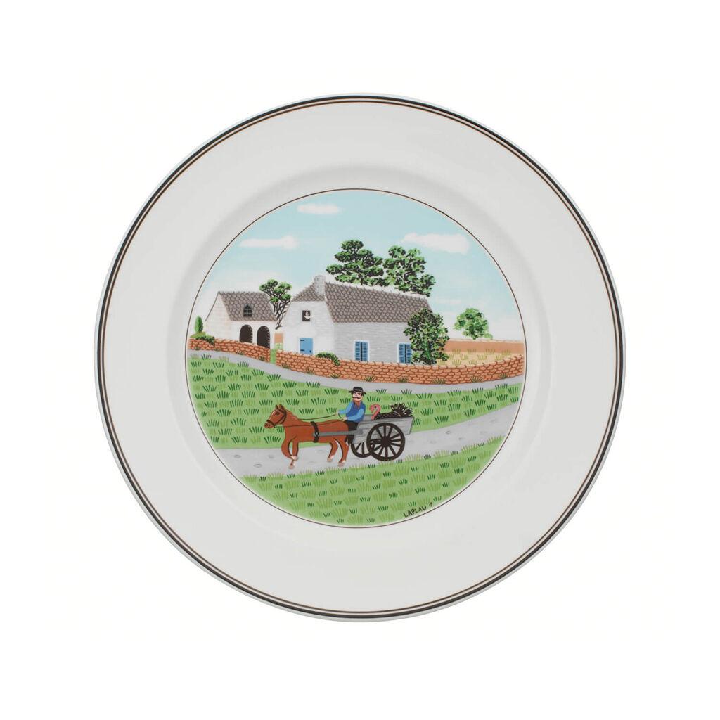 빌레로이 앤 보흐 디자인 나이프 디너 접시 Villeroy&Boch Design Naif Dinner Plate #1 - Going To Market 10 1/2 in