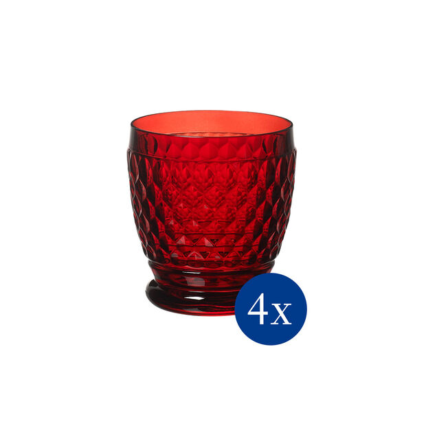 Boston Colored DOF: Red, Set of 4, , large