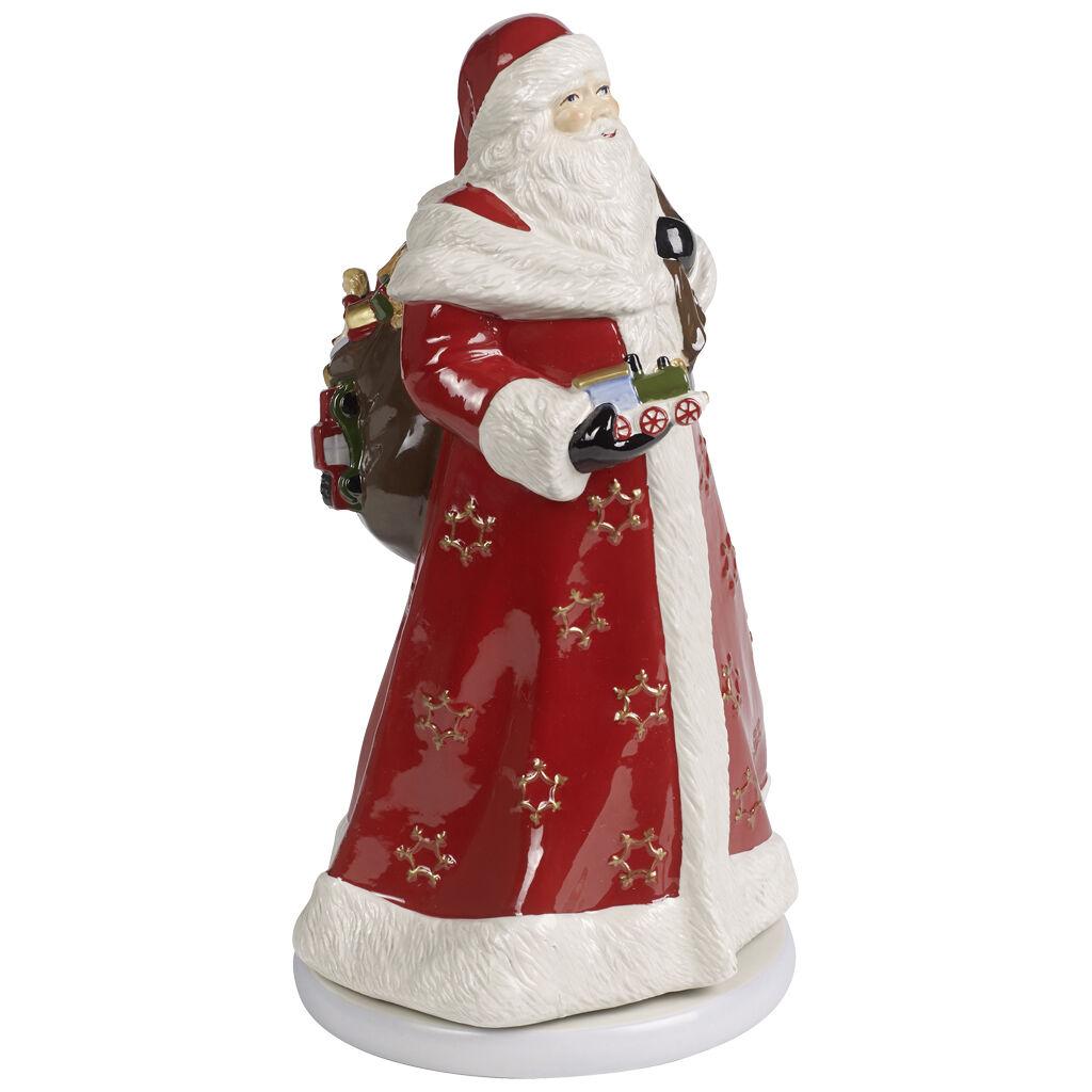 빌레로이 앤 보흐 산타 장식품 Villeroy & Boch Christmas Toys Memories Figurine : Turning Santa 6.75x7.75x13.25 in