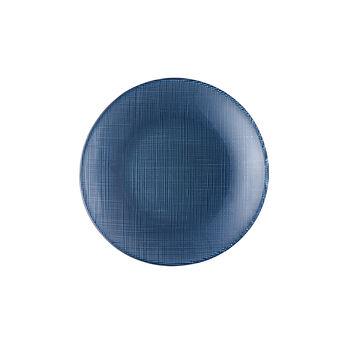 Verona Glass Salad Plate: Blue