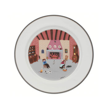 Design Naif Dinner Plate #5 - By The Fireside