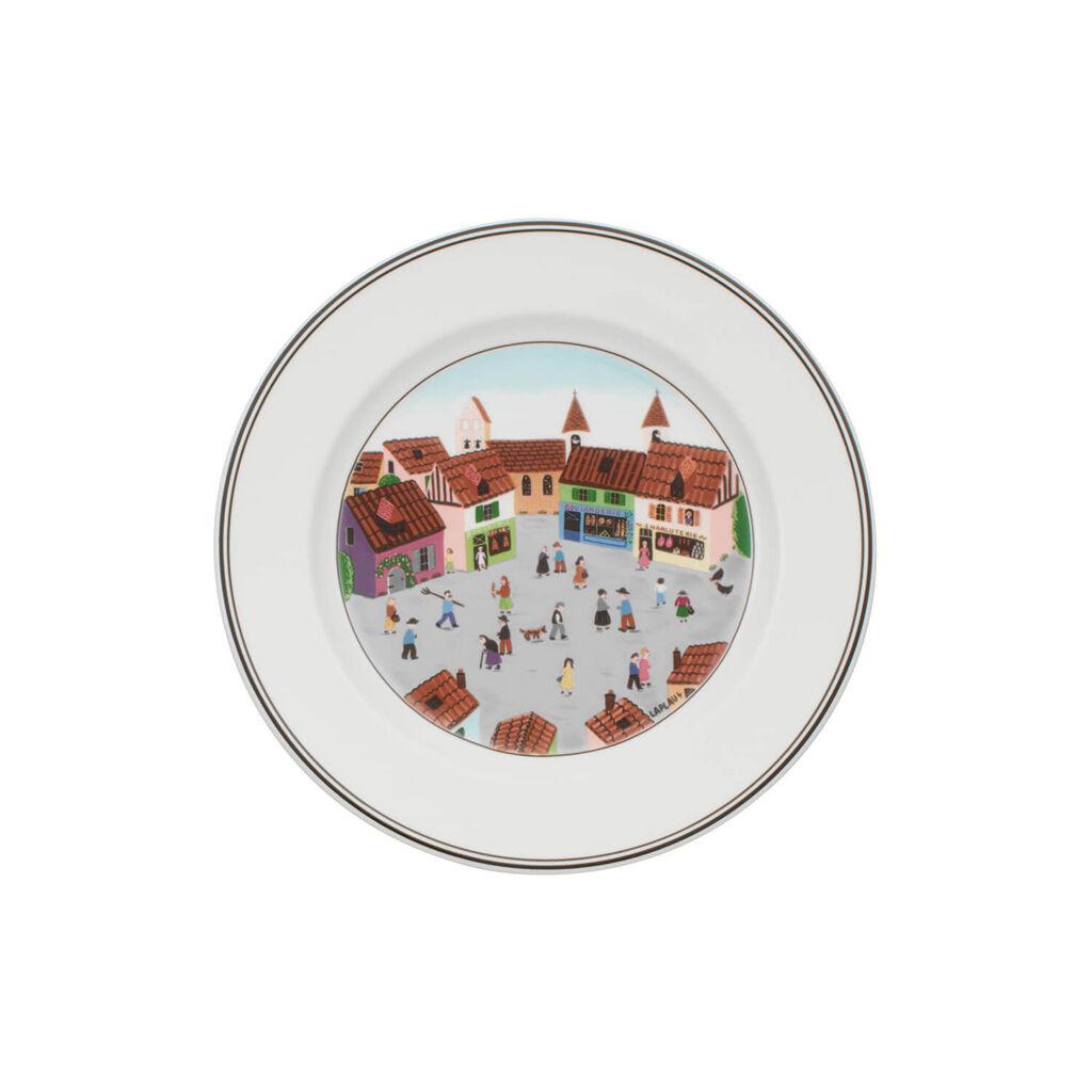 빌레로이 앤 보흐 디자인 나이프 샐러드 그릇 Villeroy&Boch Design Naif Salad Plate #4 - Old Village Square 8 1/4 in