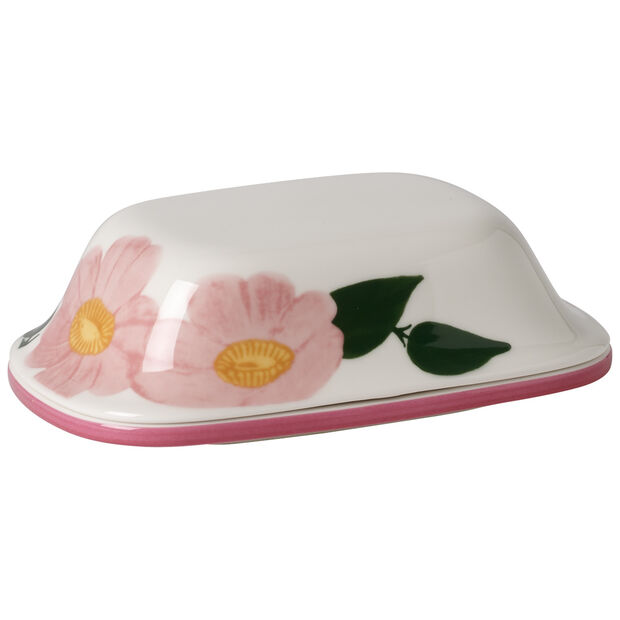 Rose Sauvage Covered Butter Dish, , large