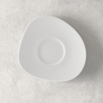 Organic White Coffee Cup Saucer