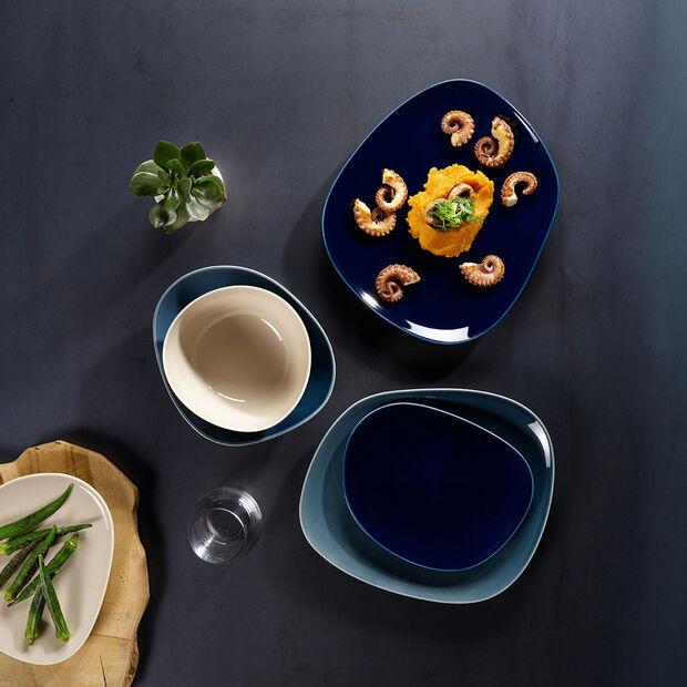 Organic Deep Blue Dinner Plate, , large