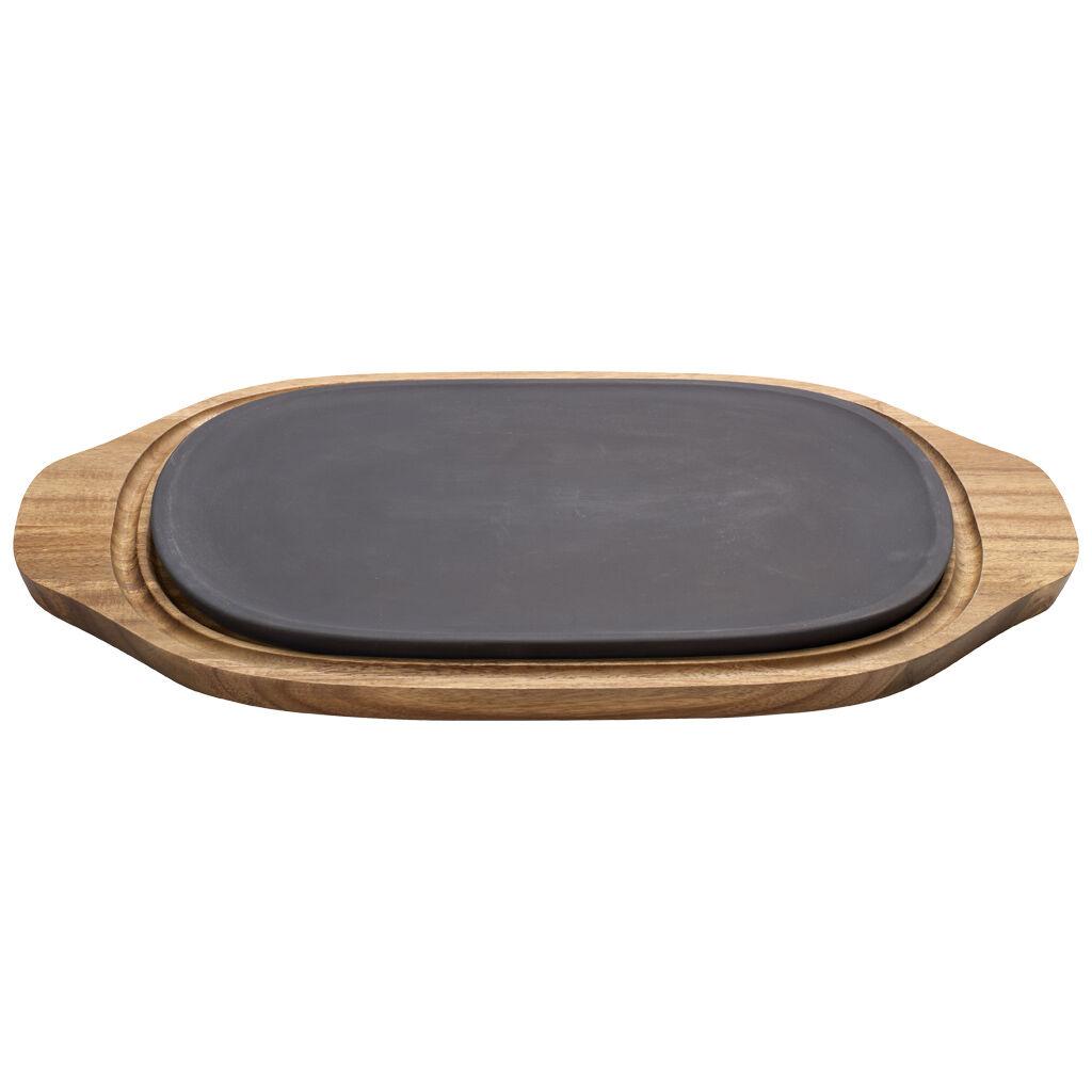 빌레로이 앤 보흐 'BBQ 패션' 핫/쿨 플레이트 Villeroy & Boch BBQ Passion Hot/Cool Plate 12.5x8 in