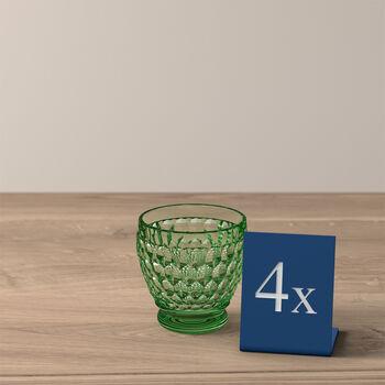 Boston Colored Shot Glass: Green, Set of 4
