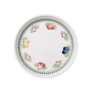 French Garden Baking Round Serving Plate/Lid, Small