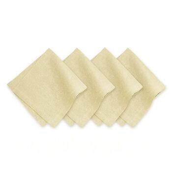 La Classica Napkin: Ivory/Gold, Set of 4