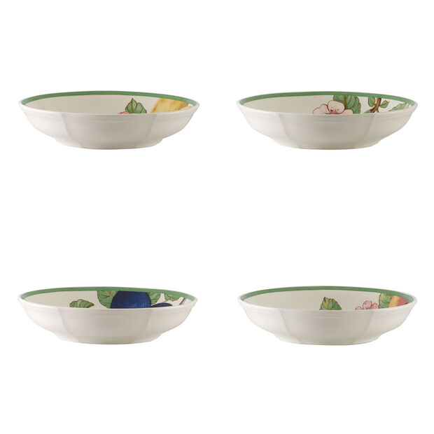 French Garden Modern Fruits Pasta Bowl : Assorted Set of 4 9.25 in, , large