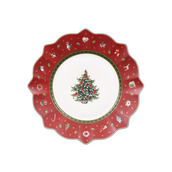 Toy's Delight Salad Plate: Red
