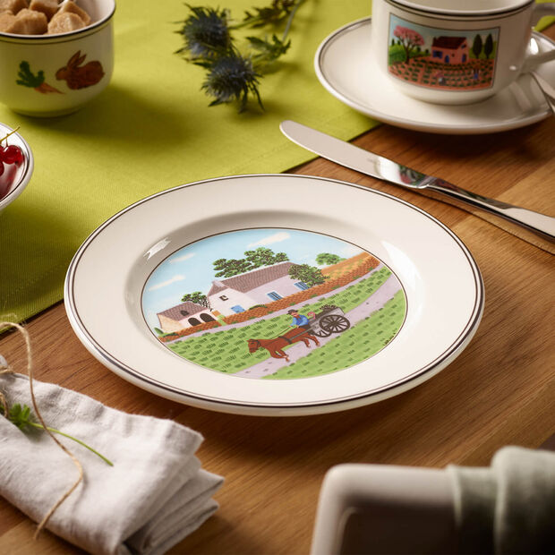 Design Naif Salad Plate #1 - Going To Market, , large