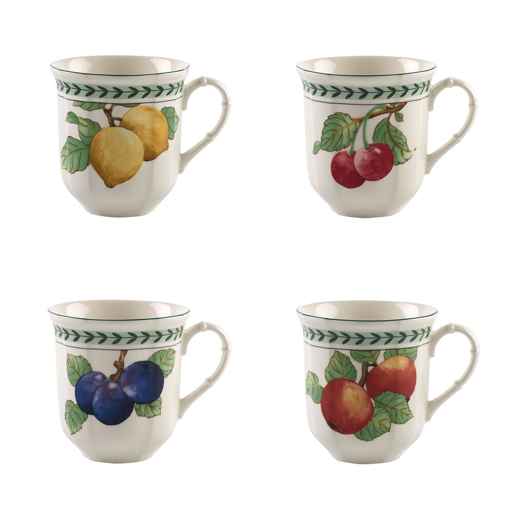 빌레로이 앤 보흐 프렌치 가든 점보 머그 (4세트) Villeroy&Boch French Garden Modern Fruits Jumbo Mug : Asstorted Set of 4