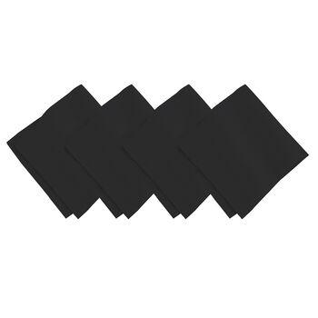 La Classica Napkin: Black, Set of 4