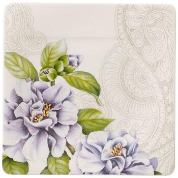Quinsai Garden Square Appetizer/Dessert Plate: Camellia