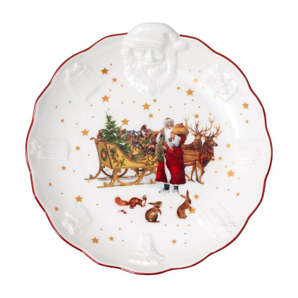 빌레로이 앤 보흐 '토이즈 판타지' 접시 Villeroy & Boch Toys Fantasy Bowl with Santa relief, nostalgia