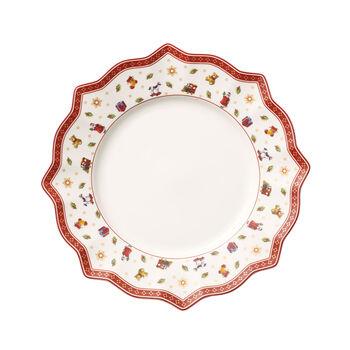 Toy's Delight Dinner Plate: White