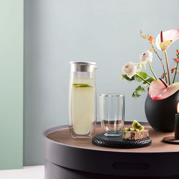 Artesano Hot & Cold Beverages Glass Carafe with Lid, , large