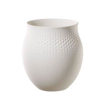 Manufacture Collier Blanc Perle Vase, Large