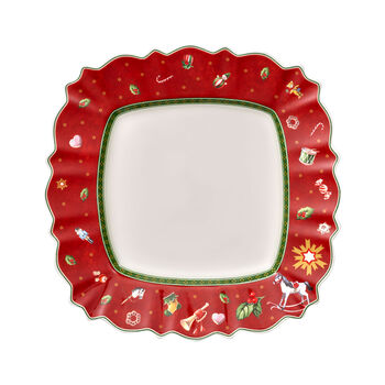 Toy's Delight Dinner Plate: Red