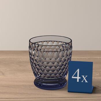 Boston Colored DOF Glass: Blue, Set of 4