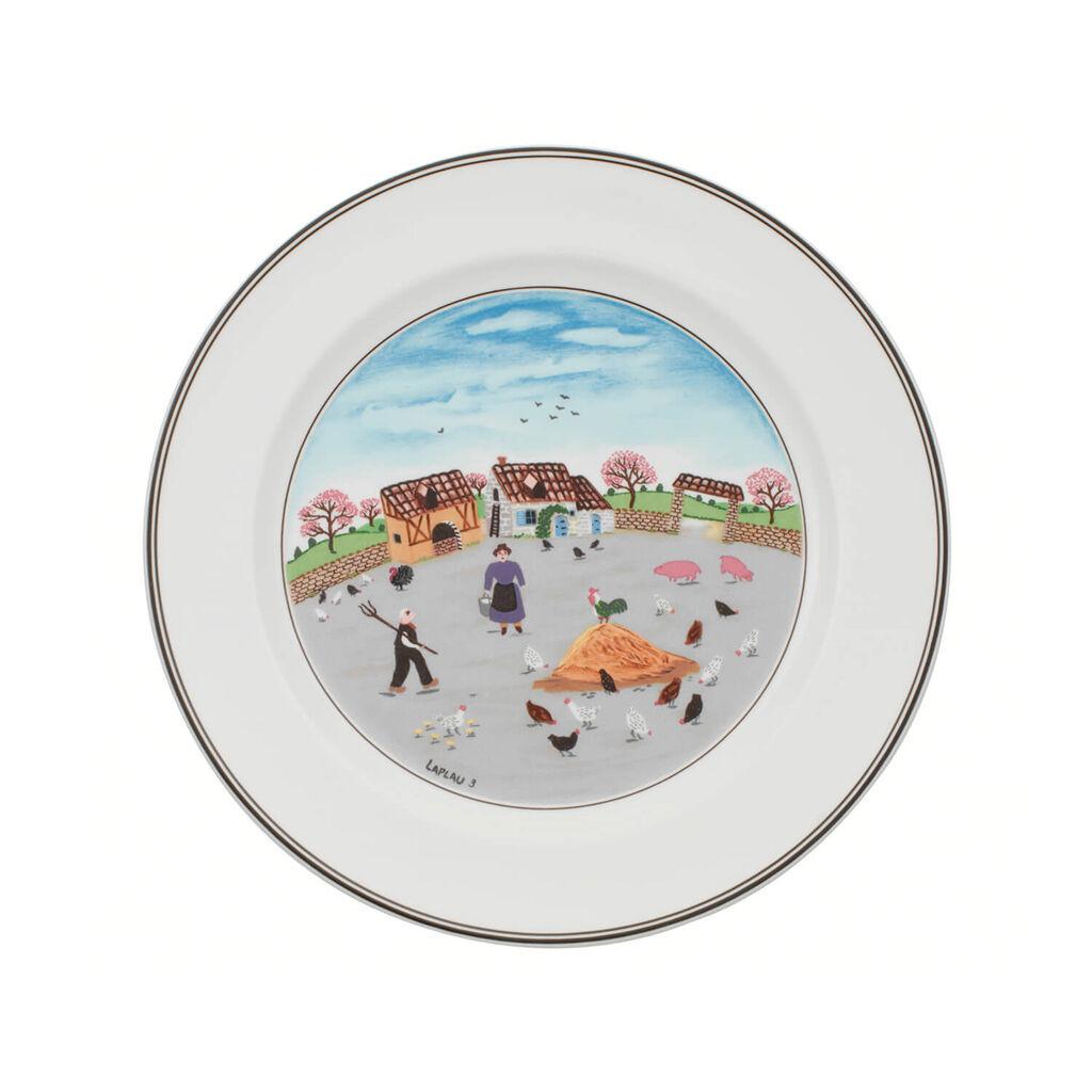 빌레로이 앤 보흐 디자인 나이프 디너 접시 Villeroy&Boch Design Naif Dinner Plate #3 - Country Yard 10 1/2 in