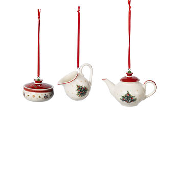 Toy's Delight Decoration Ornaments: Coffeeset, Set of 3