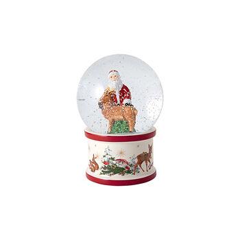 Christmas Toys Large Snow Globe: Santa and Deer