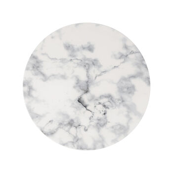 Marmory Dinner Plate: White
