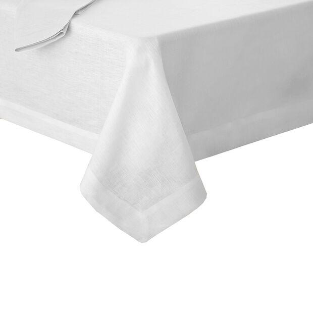 "La Classica Oblong Tablecloth: White, 70x126"", , large"