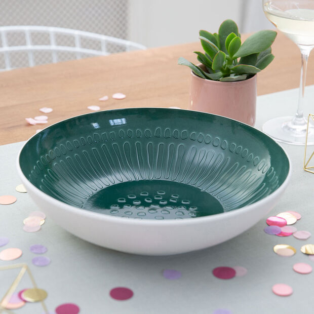 it's my match Green Serving Bowl: Blossom, , large