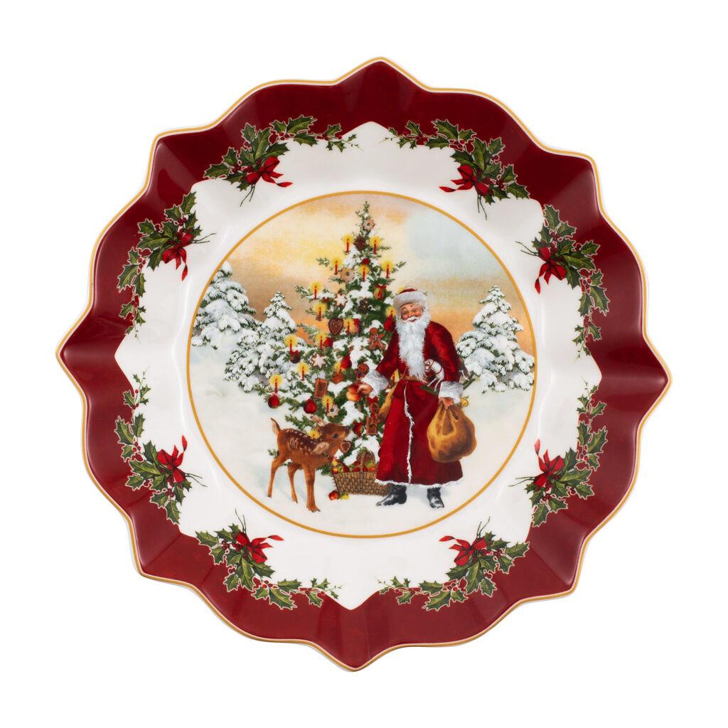 빌레로이 앤 보흐 '토이즈 판타지' 볼 Villeroy & Boch Toys Fantasy Footed bowl, Santa with Christmas Tree