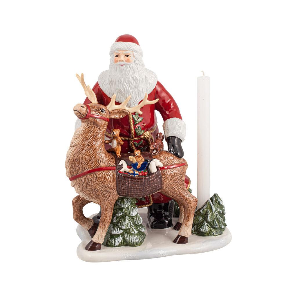 빌레로이 앤 보흐 '크리스마스 토이즈' 산타와 사슴 피규어 Villeroy & Boch Christmas Toys Memories Santa with deer