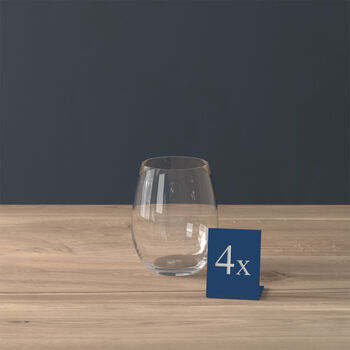 Entrée Stemless White Wine Glass, Set of 4