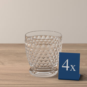 Boston Double Old-Fashioned Glass, Set of 4