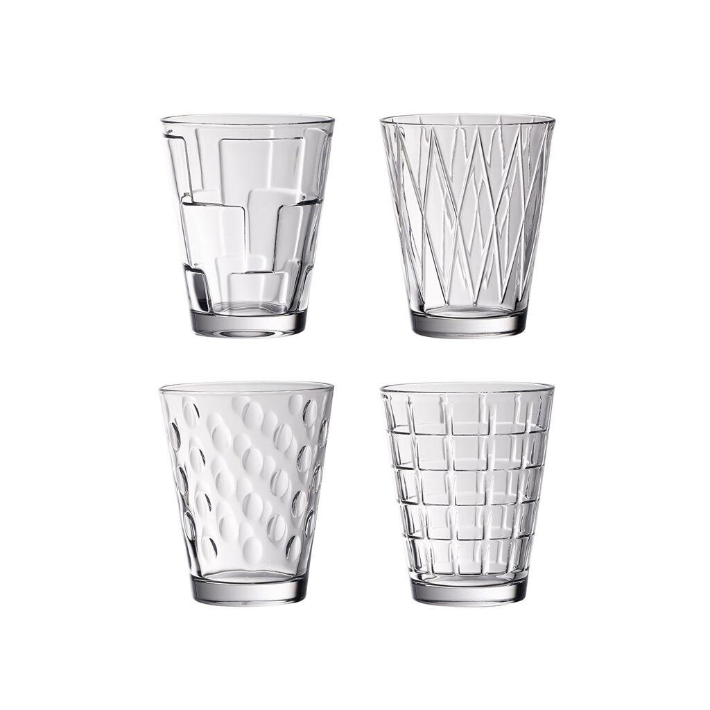 빌레로이 앤 보흐 텀블러 (4세트) Villeroy & Boch Dressed Up Crystal Glass Tumblers - Assorted Patterns : Set of 4
