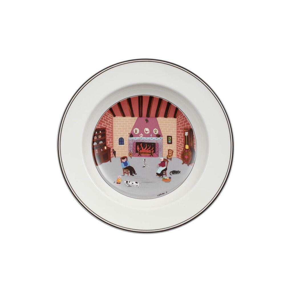 빌레로이 앤 보흐 디자인 나이프 수프볼 Villeroy&Boch Design Naif Soup Bowl #5 - By Fireside 8 1/4 in