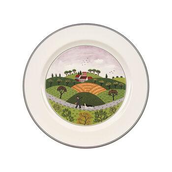 Design Naif Dinner Plate #6 - Hunter & Dog