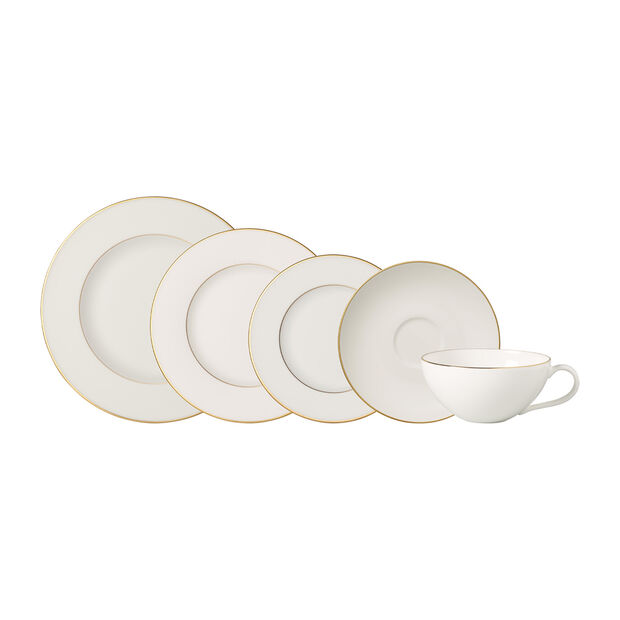 Anmut Gold 5 Piece Place Setting, , large