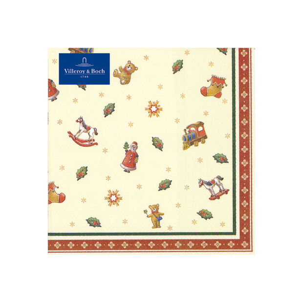 Winter Specials Cocktail Napkin: Scattered Toys, , large